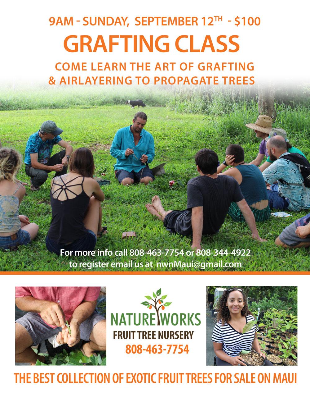 Grafting class in September